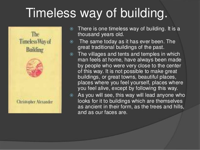 timeless way of building ebook