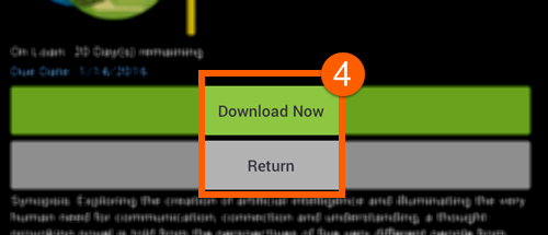 how to return ebook to library from kindle