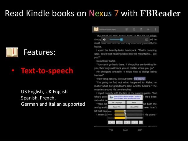 text to speech ebook reader android