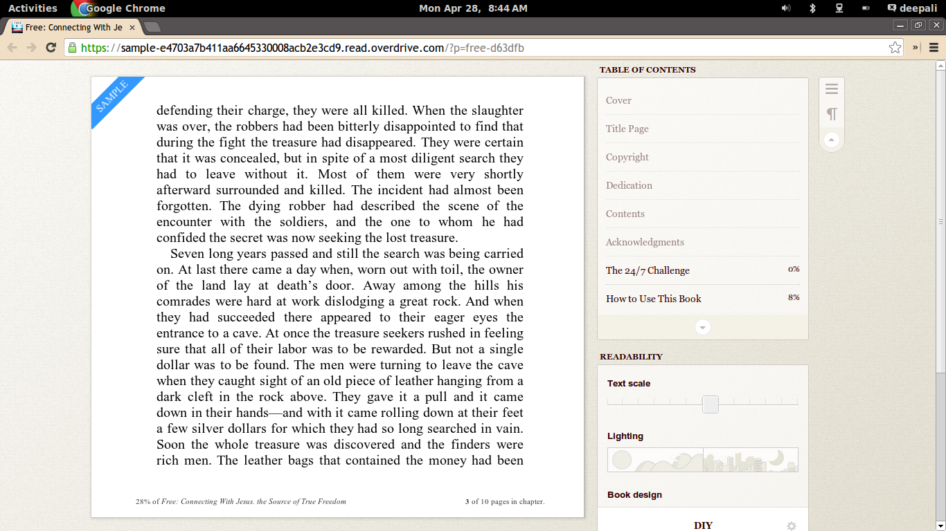 how to use overdrive to read epub